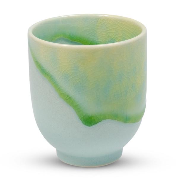 Image of Vidro Green Round Teacup 1