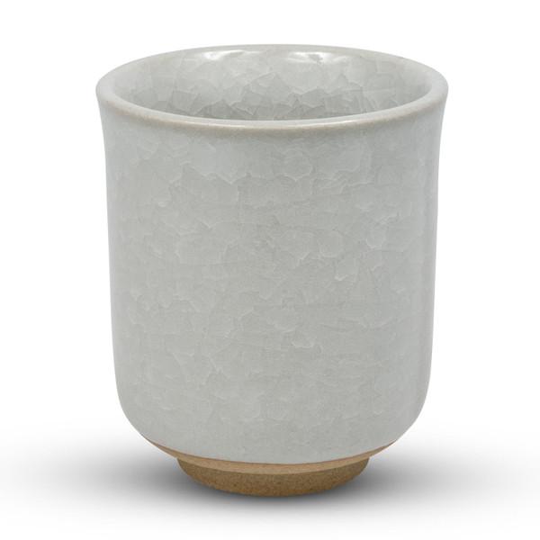 Image of Kikou White Crackled Teacup 1
