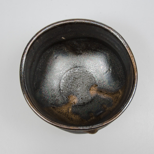 Image of Black Copper Luster Matcha Bowl 2