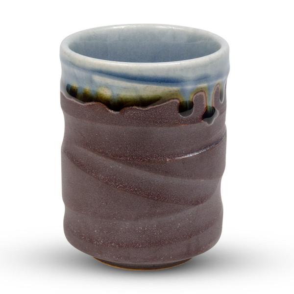 Image of Raiun Gray Blue Metallic Teacup 1