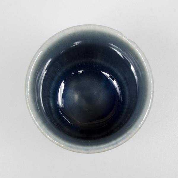 Image of Raiun Gray Blue Metallic Teacup 2