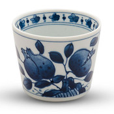 Zakuro Blue Soba Cup