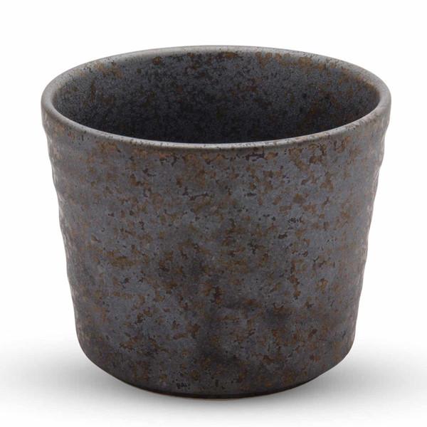 Image of Miroku Black Round Soba Cup 1