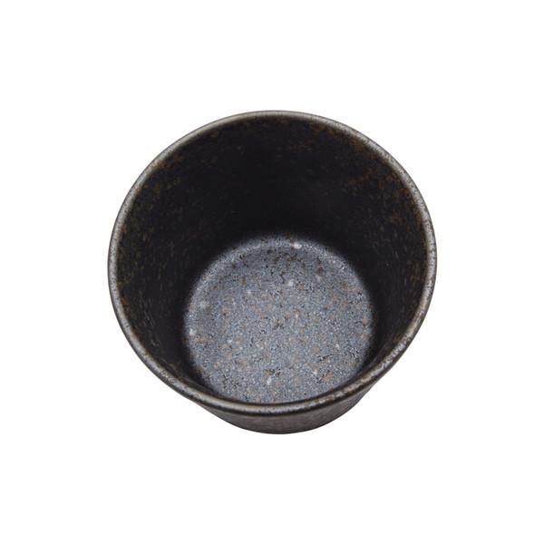 Image of Miroku Black Round Soba Cup 2