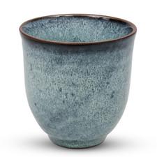 Dark Cerulean Blue Teacup