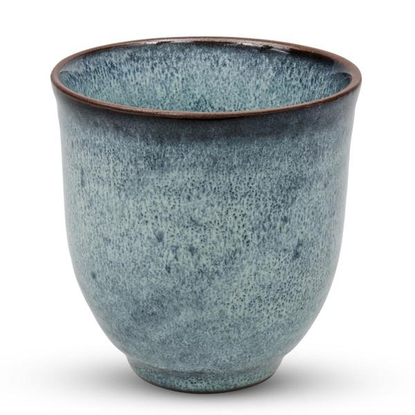 Image of Dark Cerulean Blue Teacup 1