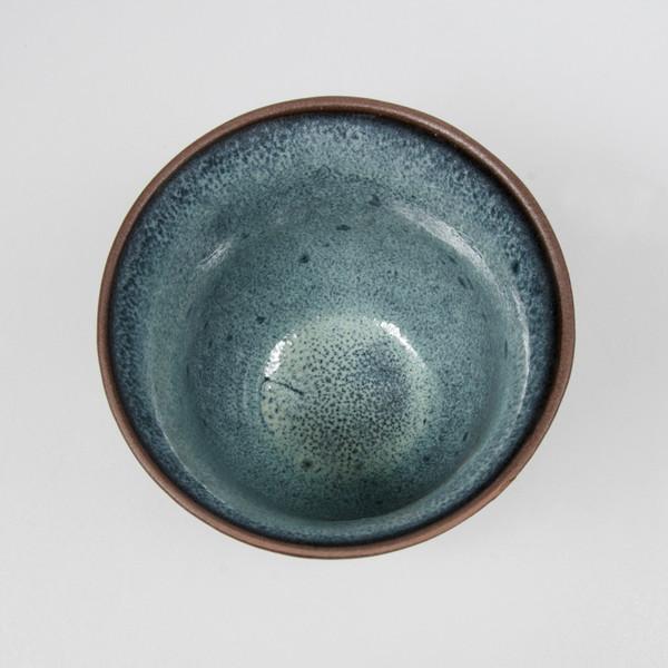 Image of Dark Cerulean Blue Teacup 2