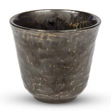 Metallic Slate Gray Round Tea Cup