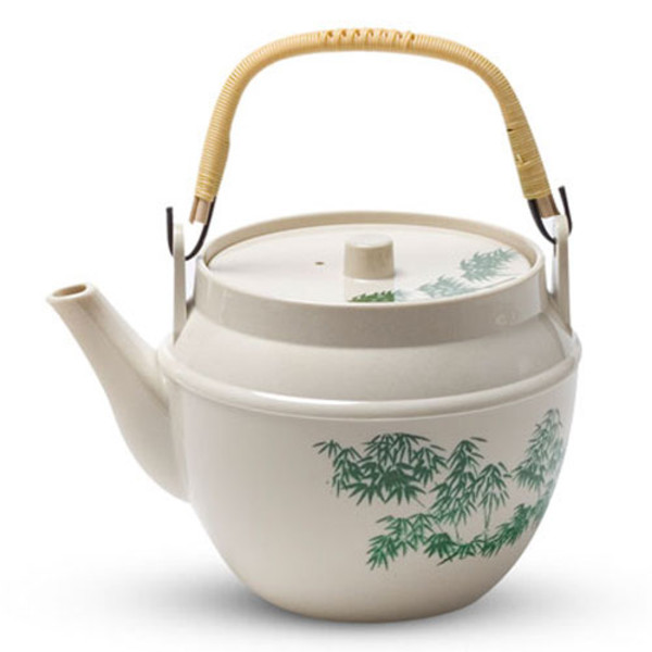 Image of Green Bamboo Melamine Teapot - Small