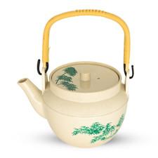 Green Bamboo Melamine Teapot - Medium