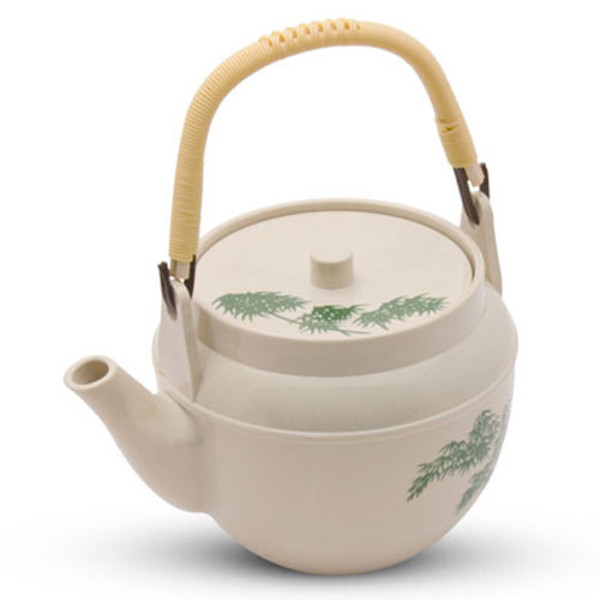 Image of Green Bamboo Melamine Teapot - Medium