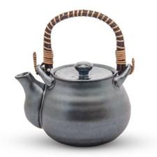 Teapot Silver Blue Granite