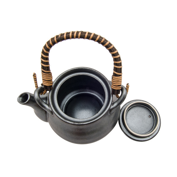 Image of Teapot Silver Blue Granite 2