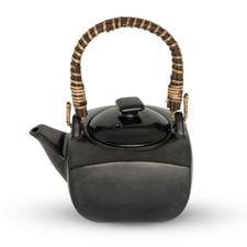 Tessa Black Square Teapot