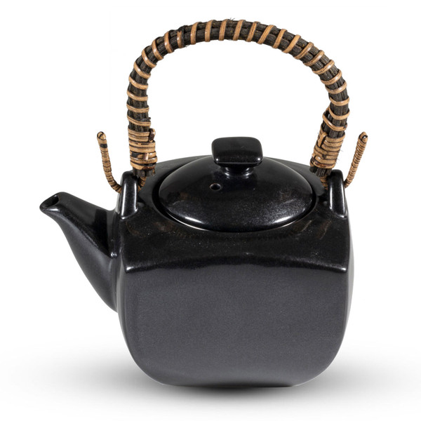 Image of Tessa Black Square Teapot 1