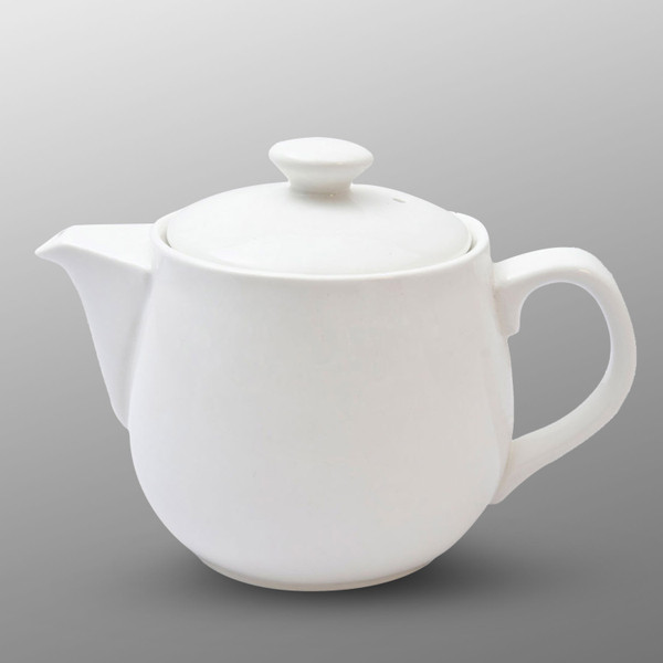 Image of Korin Durable White Ceramic Teapot 1