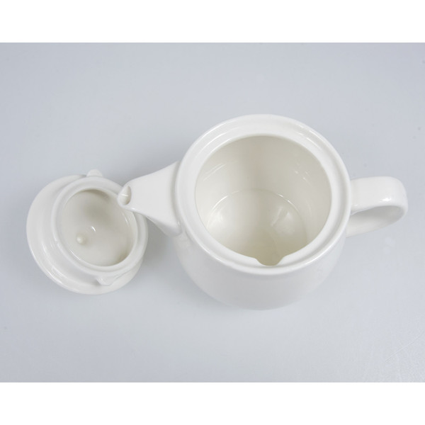 Image of Korin Durable White Ceramic Teapot 2