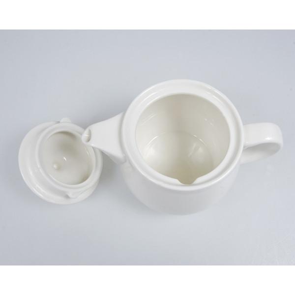 Image of Korin Durable White Ceramic Teapot 2
