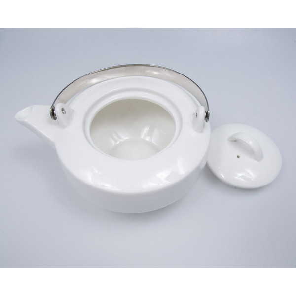 Image of Korin Durable White Pillar Base Teapot 2