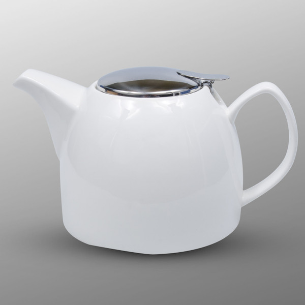 Image of Korin Durable White Half Gourd Teapot 1