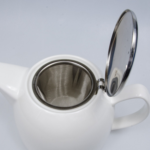Image of Korin Durable White Half Gourd Teapot 2