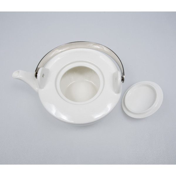 Image of Korin Durable White Flat Teapot 2