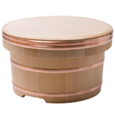 Cypress Wooden Edobitsu Rice Jar - 30cm