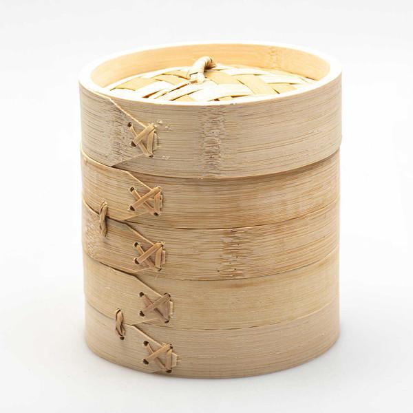 "Image of Bamboo Steamer 6"" (15 cm) 1"