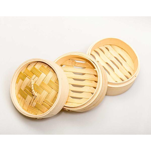 "Image of Bamboo Steamer 6"" (15 cm) 3"