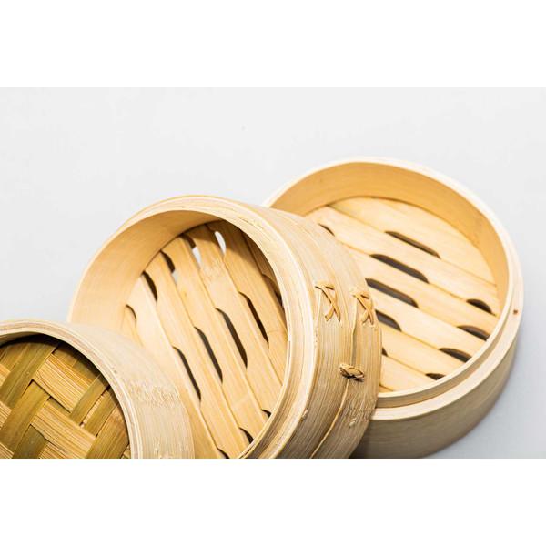 "Image of Bamboo Steamer 6"" (15 cm) 4"
