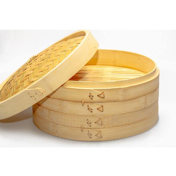 "Image of Bamboo Steamer 12"" (30 cm) 3"