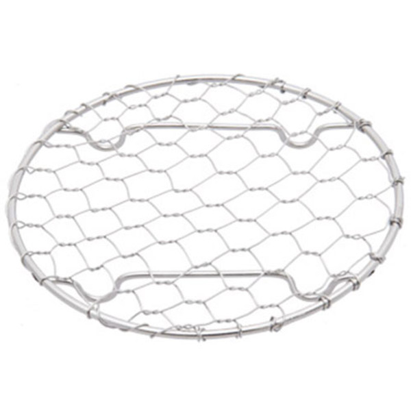 """Image of Round Stainless Net Plate 4""""Dia 1"""