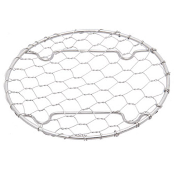 """Image of Round Stainless Net Plate 3.5""""Dia 1"""