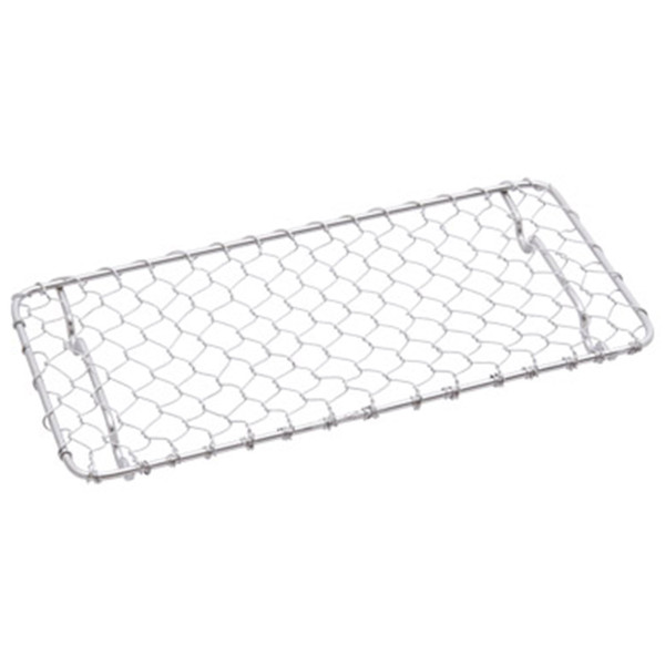 """Image of Stainless Rectangular Net for Tonkatsu 7.2""""L x 4""""W x 0.5""""H"""