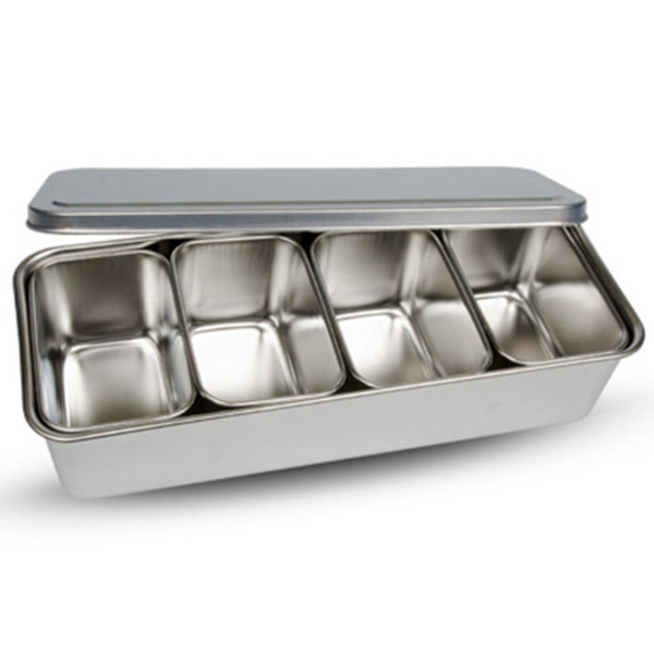 Image of Stainless Yakumi Pan - 4 compartments 1