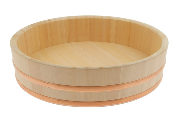 Image of Cypress Wooden Rice Mixing Tub (Hangiri) - 72cm