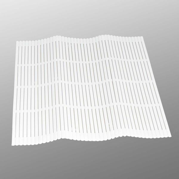 Image of White Plastic Sushi Makisu Mat 1