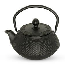 Small Black Arare Cast Iron Teapot