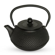 Black Arare Cast Iron Teapot