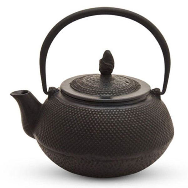Image of Black Arare Cast Iron Teapot