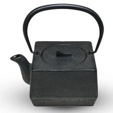 Black Square Cast Iron Teapot