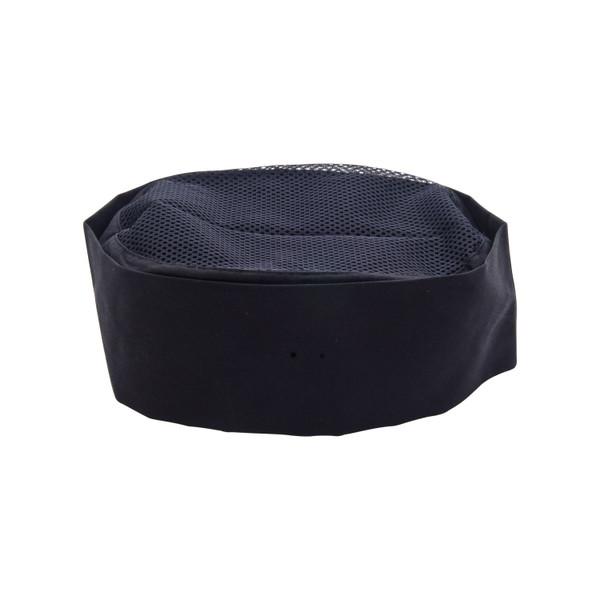 Image of Black Chef Hat with Mesh - Medium