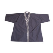 Blue Daiya Collar Sushi Chef Coat - Medium