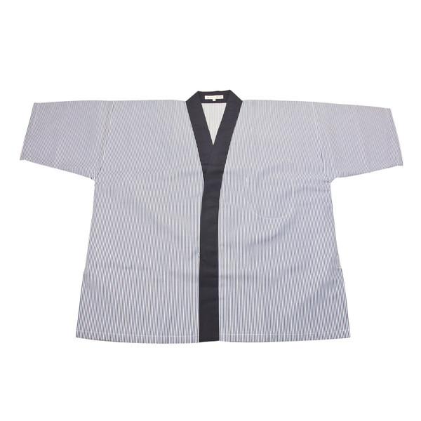 Image of Blue Striped Sushi Chef Coat - Medium