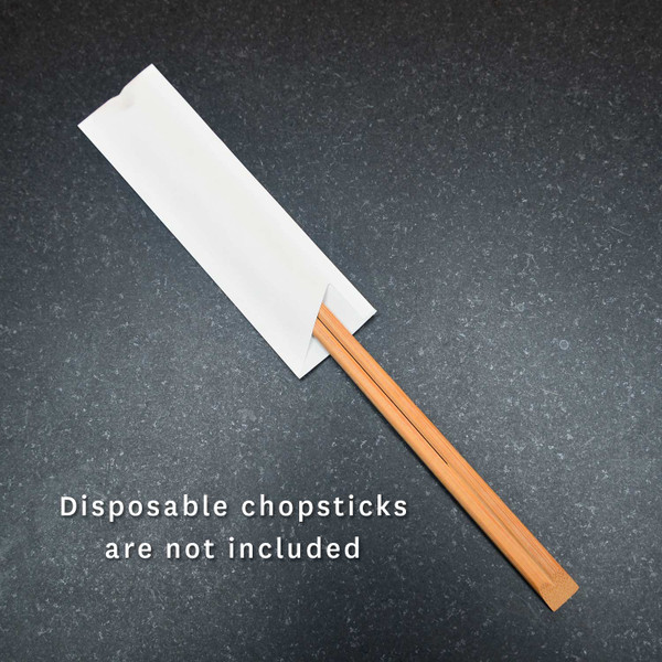 Image of White Paper Sleeve for Chopsticks 2