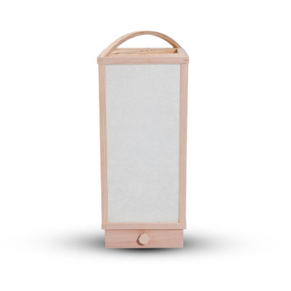 Image of Wooden Framed Light with Handle 1