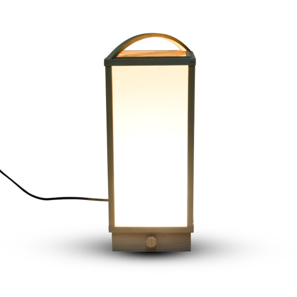 Image of Wooden Framed Light with Handle 2