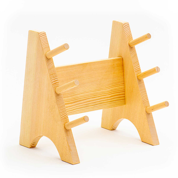 Image of Wooden Knife Stand 3 Piece 1
