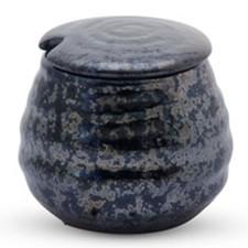 Black Moss Lidded Pot