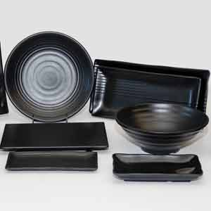 Korin Satin Black Melamineware & Other Melamines